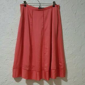 Banana Republic NWT midi flair skirt Red Coral 4